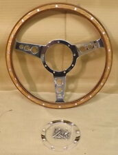 "CLASSIC STYLE LIGHT WOOD STEERING WHEEL - 13"" -SEMI-DISH - 3 SPOKE - WR133SPHD-L"