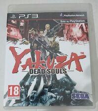 YAKUZA DEAD SOULS  ITALIANO COME NUOVO PS3 PLAYSTATION 3 CON MANUALE ITA