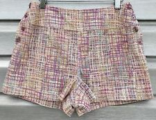 CHANEL Woven Pastel Tweed Twill High Waist Sailor Mini Shorts RARE!!