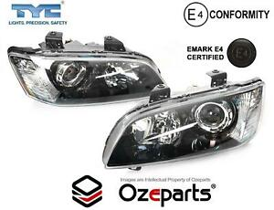 Pair LH+RH Projector Head Light Black For Holden VE Commodore Series 1 '06~'10