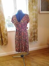 Fat Face size 12 soft 100% viscose, paisley patterned, short sleeved tea dress