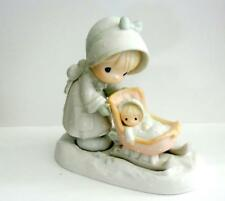 Precious Moments January Figurine 109983 Baby in Sleigh Enesco box