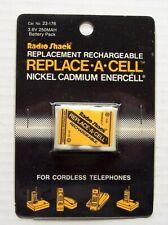 New Radio Shack Cordless Telephone Rechargeable Battery 3.6V 250MAH #23-176