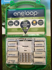 Panasonic Eneloop Rechargeable Batteries 6 AA, 4 AAA, & Charging Station