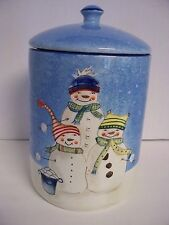 Snowfolks Le Gourmet Chef Snowman Cookie Jar Canister Holiday Christmas 2007