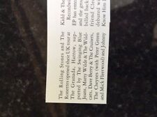 b1s ephemera music reprint article 1964 rolling stones granada harrow ronettes