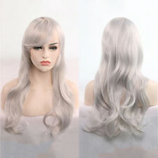 Womens Lady Long Hair Wig Curly Wavy Synthetic Anime Cosplay Party Full Wigs Hot