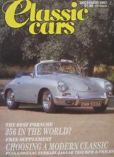 Classic Cars 12/1987 featuring Lamborghini, ISO Grifo,Audi Quattro,Lotus,Porsche