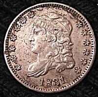 1831 CAPPED BUST HALF DIME - AU DETAILS   #15134