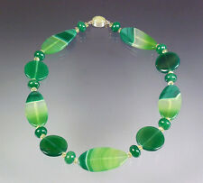NEW MARKDOWN -- BESS HEITNER GREEN AGATE NECKLACE