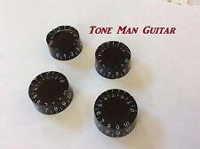 Black Guitar Speed Knobs - Fits Coarse 18 teeth Spline Pots  Les Paul & others