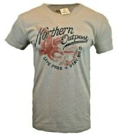 NORTHERN OUTPOST Mens T Shirt American USA Hunting Bald Eagle Hiking Outdoor Tee