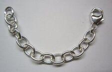 Verlängerungskette, Anker oval extra stark, Silber 925 mit Karabiner, 7 cm