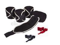 4 Pack of Quality Horse Pony Polo Stable Exercise Fleece Bandages / Leg Wrap