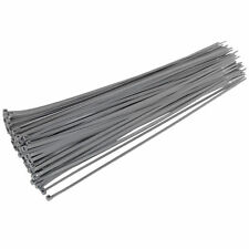 30x Silver Grey Cable Ties - Tie Wraps Car Wheel Trims - Computer PC Cable Tidy