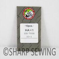 10 ORGAN FLAT SHANK 15X1 HAX1 130/705 HOME SEWING MACHINE NEEDLES BROTHER SINGER