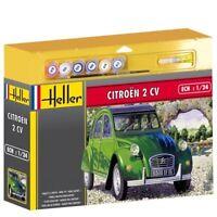 Kit Modello HEL50765G - Heller 1:24 Scala Set Regalo - Citroen 2 Cv