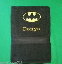 Custom - 3 Pc Dc Comics Batman Signalblack Bath & Hand Towel Set Personalize