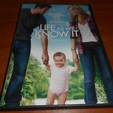 Life As We Know It (DVD, Widescreen 2011) Katherine Heigl, Josh Duhamel Used