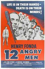 TWELVE ANGRY MEN Movie POSTER 27x40 D Henry Fonda Martin Balsam Lee J. Cobb E.G.