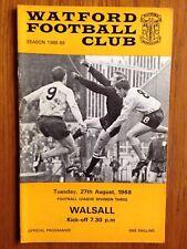 Watford v Walsall 1968/69 programme