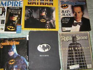 BATMAN RETURNS Press Kit Michael Keaton + 2 Rolling Stones, Calendar, Empire '92