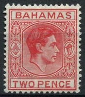 Bahamas 1938-52 KGVI SG#152b 2d Scarlet MH #A94642