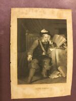 Antique Book Print - Oliver Cromwell - 1875