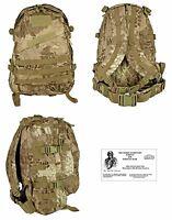 Highland Camo MOLLE Patrol / Bug Out Bag + FREE PARACORD SURVIVAL BRACELET- NEW