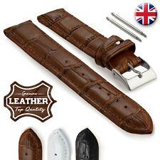 Genuine Leather Crocodile Pattern  Watch Strap 02