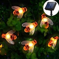 [50 LED] Solar Garden Lights, Honey Bee Fairy String Lights