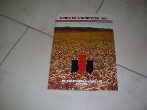 INTERNATIONAL TRACTEUR GAMME 1980
