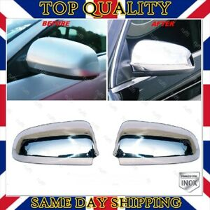 Chrome Mirror Cover 2 pcs STAINLESS STEEL For Audi A4 S4 B6 B7 from 2000 to 2008