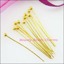 15mm 20mm 25mm 30mm Ball Head Pins 25g Dull Dull Silver Champagne Gold
