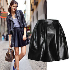 Faux Leather Dry-clean Only Mini Skirts for Women