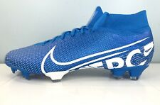 Nike Mercurial Superfly 7 Pro FG Soccer Cleats Blue AT5382-414 Men's size 13