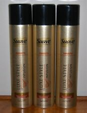 3 Suave Luxe Style Infusion Anti-Humidity SMOOTH Hairspray, 8.5 oz. each