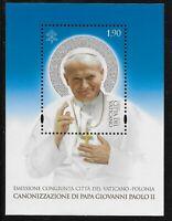 Vatican Scott #1560, Souvenir Sheet 2014 Complete Set FVF MNH