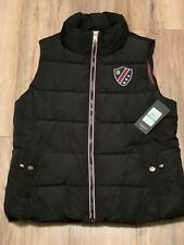 TOMMY HILFIGER Puffer Vest, Insulated, Black, TH Shield, Large Woman's