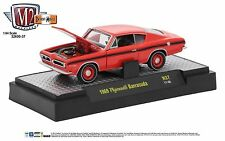 1:64 M2 Machines Detriot Muscle R37 = Red 1969 Plymouth Barracuda *NIB*
