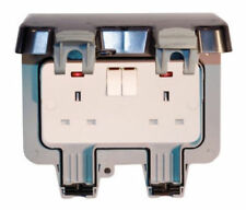 Black Nickel 2-Gang Switches Plug Socket Home Electrical Fittings