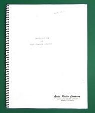 Gates M-5167 Sta-Level Limiter Owner's Manual, Complete, Bound.