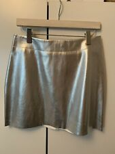 Monki Silver Faux Leather Mini Skirt Sz. 40