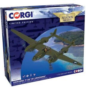 New Release Corgi AA36615 1:72nd Scale Lockheed P-38(G) Lightning Model.