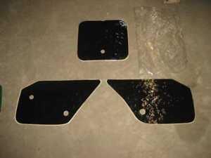 Yamaha YZ 125, 250 Numero di Partenza Adesivo Set Decorazione Nero Lucido