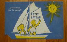 Ancien buvard publicité publicitaire petit bateau école écolier enfants mitschké