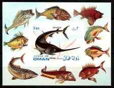 OMAN 1972 - MINISHEET FISH / ESPADON  MNH