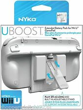 Nyko Wii U Uboost Extended Battery Pack for Nintendo Wii U Game Pad White NYK 87