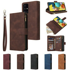 Zipper Wallet Leather Flip Case For Samsung A52 A72 A52S A12 A22 A51 S21 S20 S10