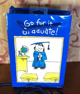 NEW GRADUATION Gift Bag -Grad With Degree By American Greetings -6 Bags avail.